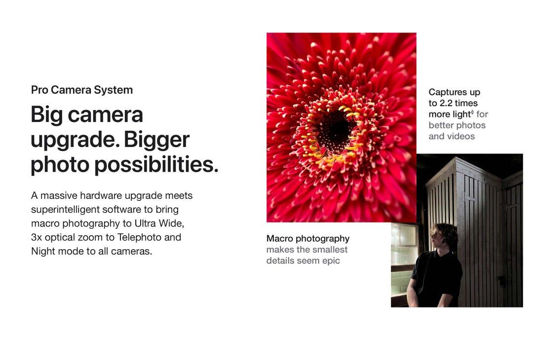 Big camera upgrade. Bigger photo possibilities.
