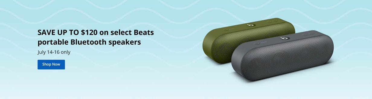 SAVE UP TO $120 on select Beats portable Bluetooth speakers