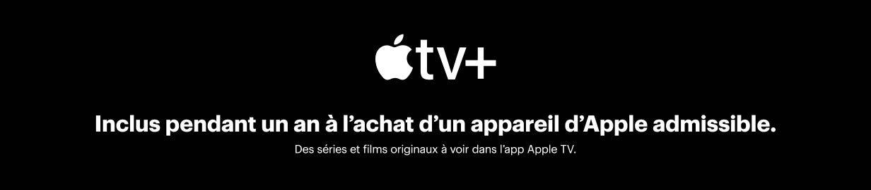 Apple TV+ est inclus pendant un an à l'achat d'un appareil Apple admissible.  Des séries et films originaux à voir dans l'app Apple TV.