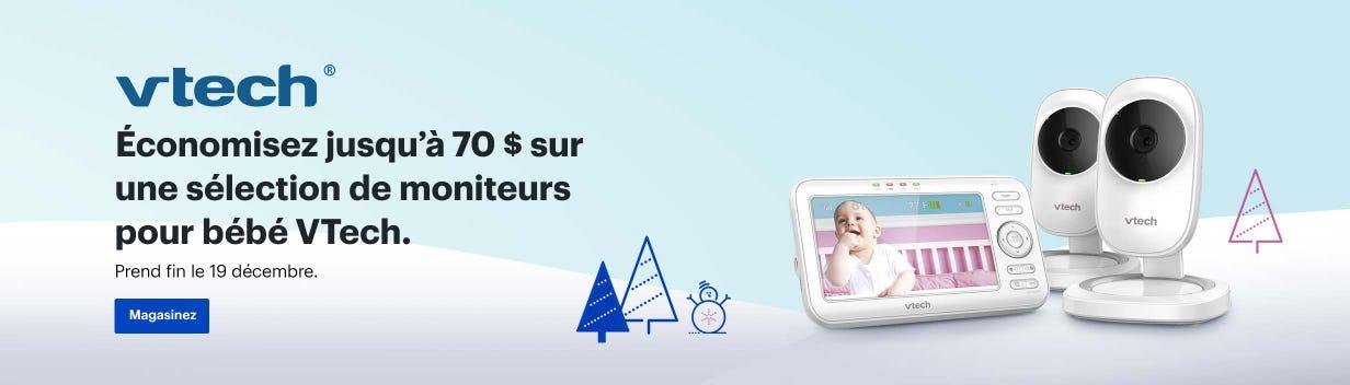 Économisez jusqu'à 70 $ sur une sélection de moniteurs pour bébé VTech. Prend fin le 19 décembre.