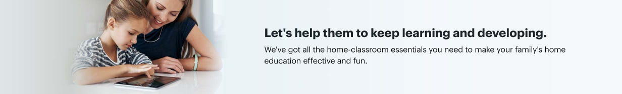 Let's help them to keep learning and developing. Get everything you need to make your family's home education effective and fun.