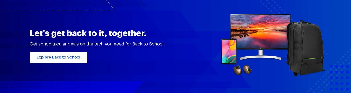 Let's get back to it, together. Get schooltacular deals on the tech you need for Back to School. Explore back to school.