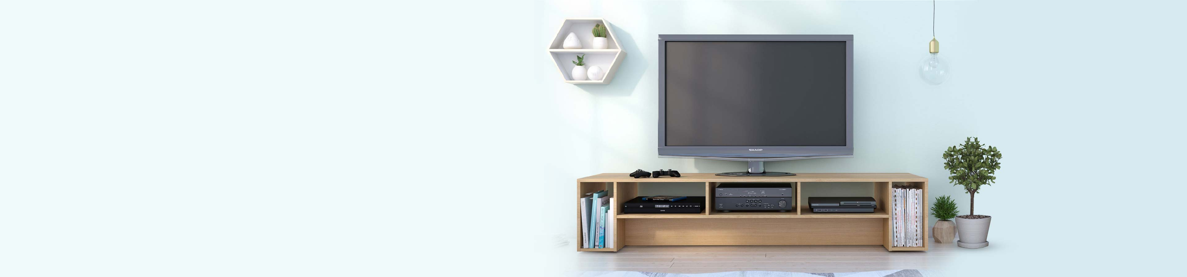 Glass Corner TV Stand Console with Storage AV Shelf Home Furniture Printer Stand